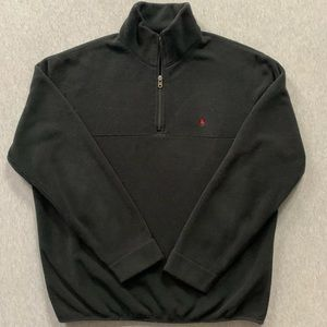 Polo Ralph Lauren Black Half Zip Fleece Pullover
